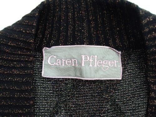 42 Cardigan Wolle braun Lurex Caren Strickjacke Schwarz silber Pfleger Gr 456R8xwqF