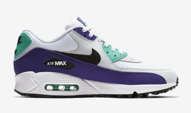Nike Air Max 90 Essential Grape Hyper Jade White Purple Teal AJ1285 103 Size