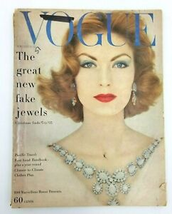 """VTG Vogue Magazine Nov 15 1957 """"The Great Fake Jewels"""" Costume Jewelry Haskell +"""
