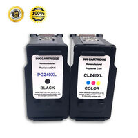 2 Pack PG-240XL CL-241XL Black&Color Ink Cartridge For Canon PIXMA MG3140 MG3140