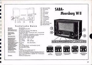 Tv, Video & Audio Modestil Service Manual-anleitung Für Saba Meersburg W Ii Baujahr 1952/53