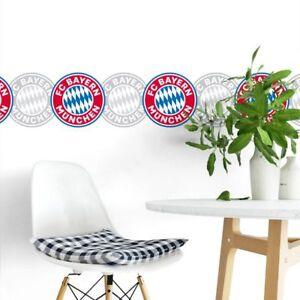 FC-Bayern-Muenchen-Borduere-Wandtattoo-Sport-Wandaufkleber-Fan-Fussball-Deko