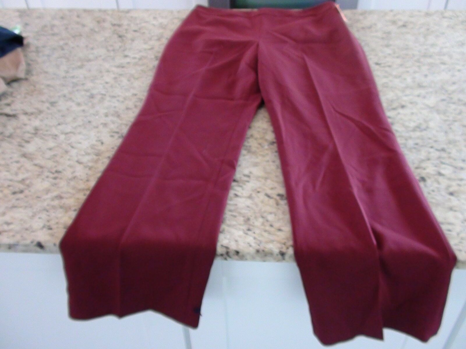 Doncaster Collection Womens Wool Blend Garnet Dress Pants Size 12M MSRP