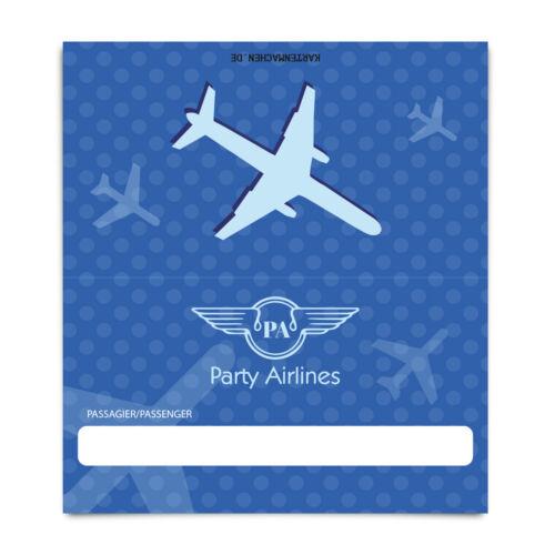 En blanc place Cartes Nom Cartes Table cartes anniversaire mariage billet d/'avion bleu