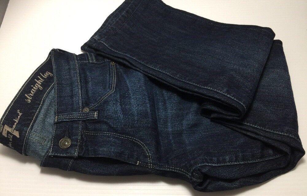 New 7 For All Mankind Women Straight Leg Dark bluee Jeans Size 25
