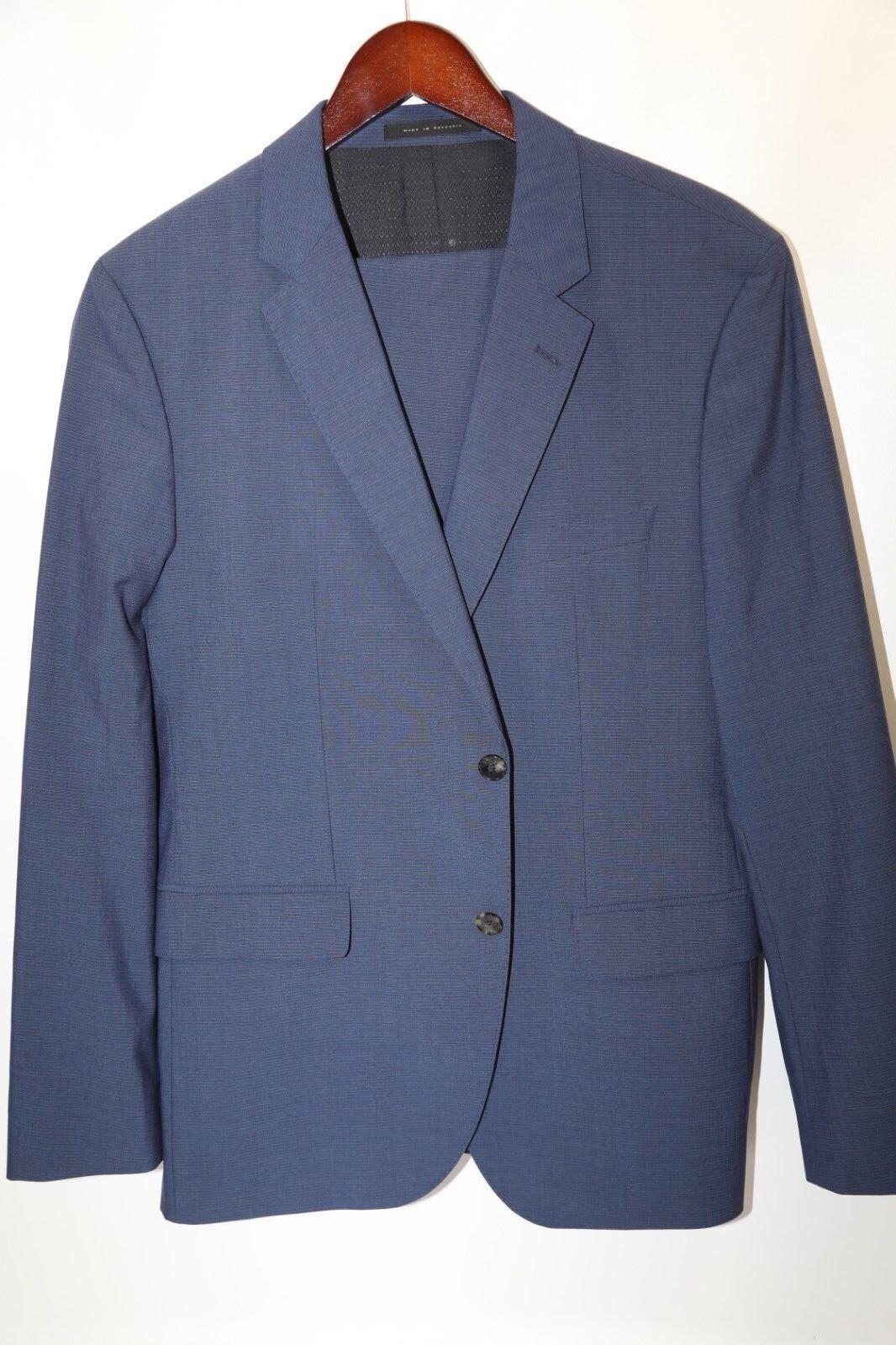 149 HUGO BOSS Johnstons1/Lenon Blau Suit Größe 40 R