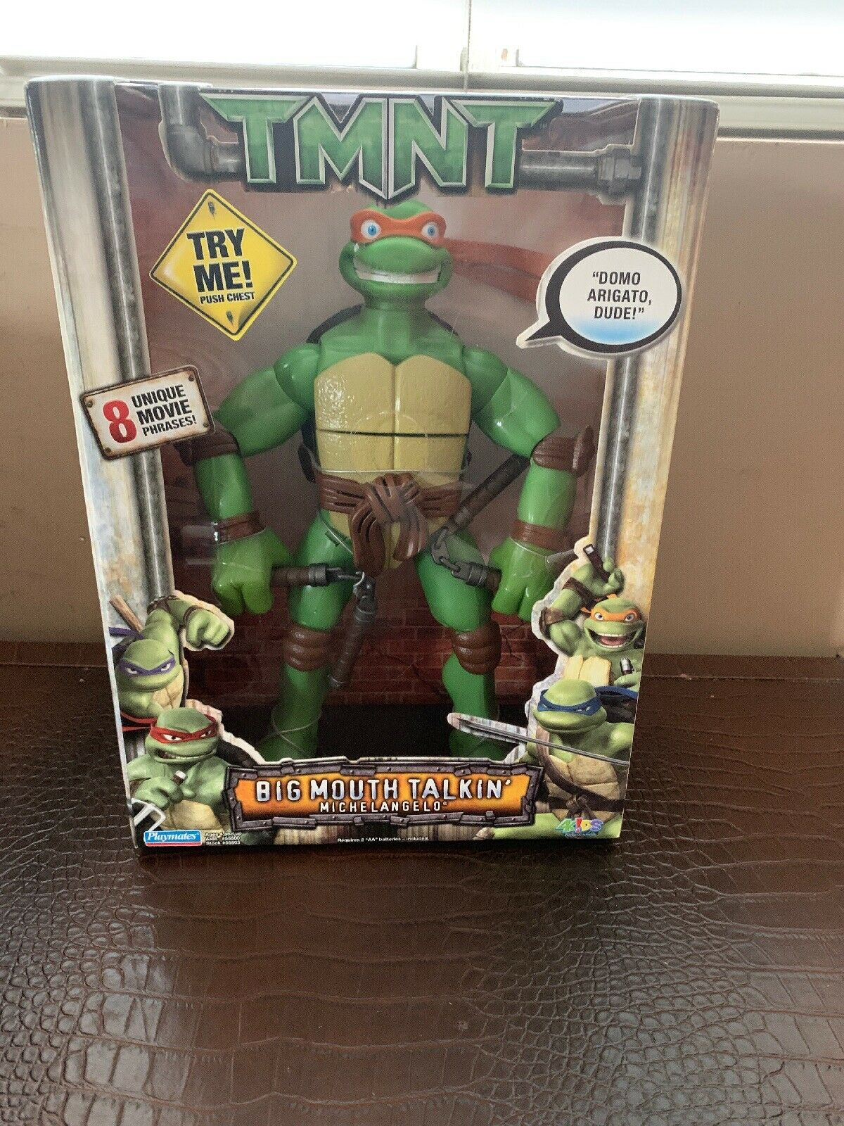 Teenage Mutant Ninja Turtles 2006 BIG MOUTH TALKIN' MICHELANGELO 12  Elec. Fig