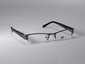 3f8c280eb2 Eyeglass Frames Glasses Half Rim Men Woman Eyewear Metal Gunmetal ...