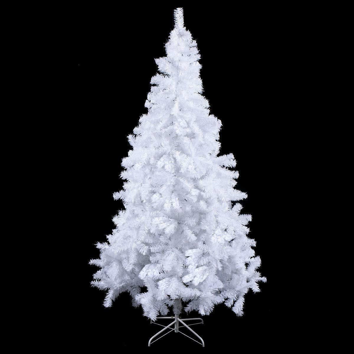 Blanc 7 Ft (environ 2.13 m) artificielle arbre de de arbre Noël, Traditionnel Arbre de Noel Décoration Avec Support 0f59e7