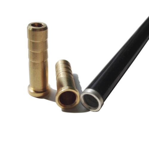 6Pcs Archery Arrow Insert Brass Copper Base for ID6.2mm OD7.6mm Arrow Shaft
