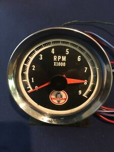 "Marpac Marine Tachometer w// Stainless Steel Bezel 3 3//8/"" 7-1980 0-7,000 RPM"