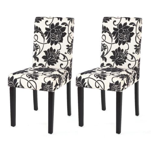 sombre JAMBES 2x chaise de salle à manger chaise fauteuil Littau tissu Jacquard
