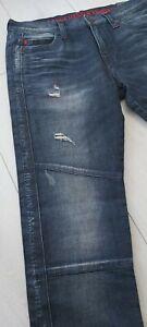True Religion Manchester United ROCCO Skinny W33 L34 lato brading Jeans £ 249.00