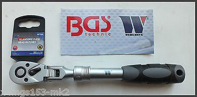 """Werkzeug - 3/8"""" Extendable Flexi Head Ratchet - 72 Tooth Drive - Pro Range 11103"""