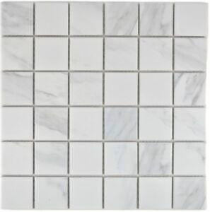 Mosaik-Fliese-Keramik-weiss-Carrara-Fliesenspiegel-Bad-14-0102-b