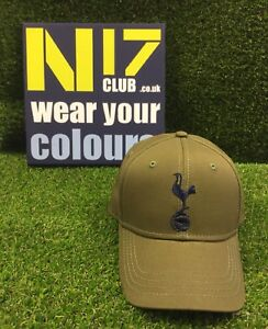 Tottenham Hotspur Spurs Army Green Cap Adulte Fit * Officiel Thfc Produit *-afficher Le Titre D'origine