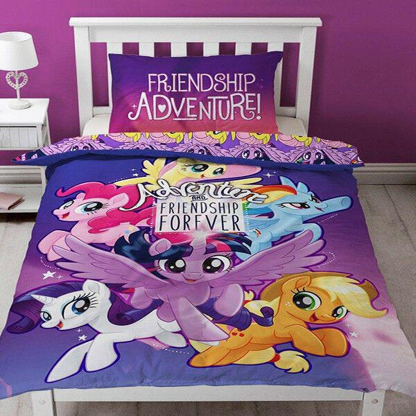 My Little Pony Aventure Lit Simple Parure Couette Ensemble