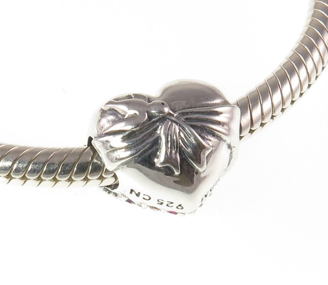 NUOVO CON SCATOLA Chamilia 925 argentoO & & & SWAROVSKI BE MINE Amore Cuore Charm Bead 93170d