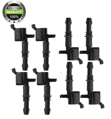 8xNew New Ford Motorcraft F-150 5.4L 3V Ignition Coil BLACK BOOTS DG-511