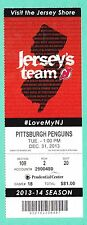 12-31-13 Penguns at Devils Full Unused NHL Hockey Ticket  Martin Brodeur Win