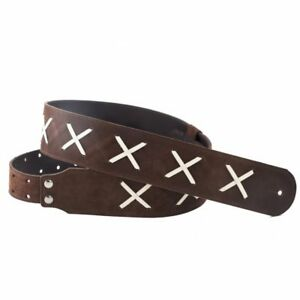 RightOn-Special-Gilmour-Suede-Leather-6cm-wide-Guitar-strap-Gilmour-Right-On
