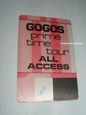 GO-GOs Concert BACKSTAGE PASS 'Prime Time' 1984 Tour OTTO Satin ALL ACCESS