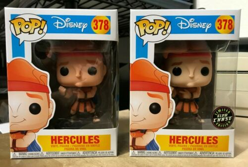 HERCULES DISNEY #378 Chase Glow GITD Authentique Set Figure 2x FUNKO POP