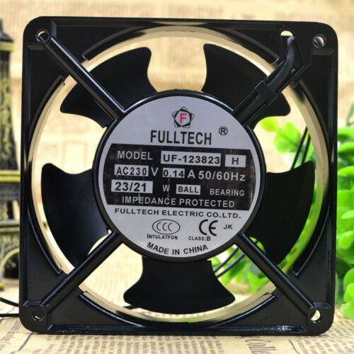 1PC FULLTECH UF-123823H 230V 0.14A 23//21W 12CM AC cabinet cooling fan