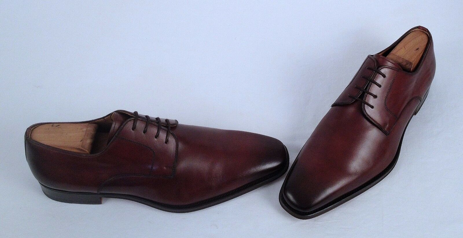 Magnanni 'Colo' Plain Toe 10 Derby- Brown- Size 10 Toe M   (M5) 5ca323