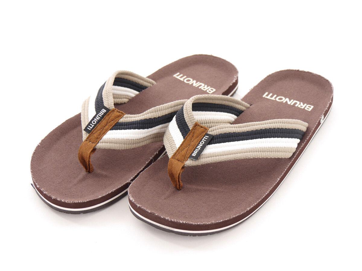 Brunotti push-toe Sandals Summer shoes Brown erilio Fabric Straps