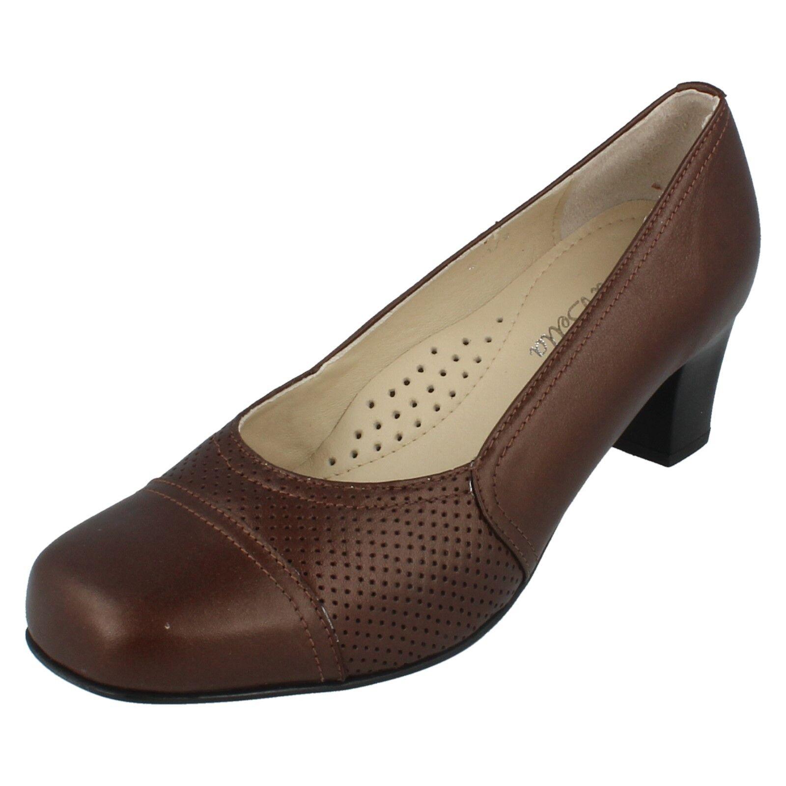 Ladies Da Bella Heeled Court shoes Geranium