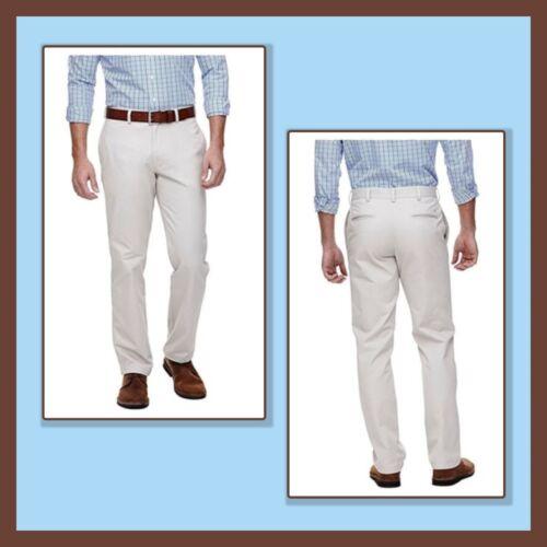 NEW HAGGAR H26 Original CHINO Straight Fit 100/% Cotton 3 colors  MULTI SIZES