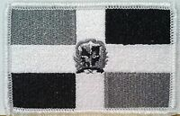 Republica Dominicana Flag Embroidered Iron-on Patch Emblem Gray & Black 464