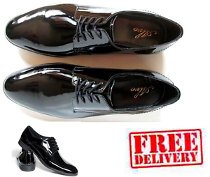 NEW-MENS-LEATHER-CASUAL-FORMAL-SMART-PATENT-LACE-UP-SHOES-SIZE-6-7-8-9-10-11