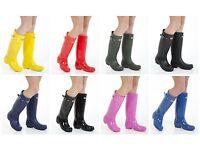 Ladies Original Tall Winter Waterproof Rain Wellies Wellington Boots All Sizes