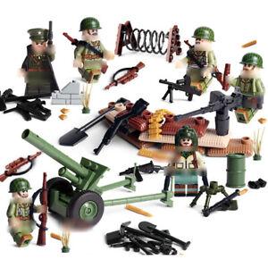 6pcs-Armee-Soldaten-Bausteine-Blocks-mit-WW2-Waffen-Militaer-Figuren-Spielzeug