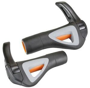 Hafny-HF-151-Bicycle-Mountain-Bike-Handlebar-Grips-with-Bar-ends-Black-Gray