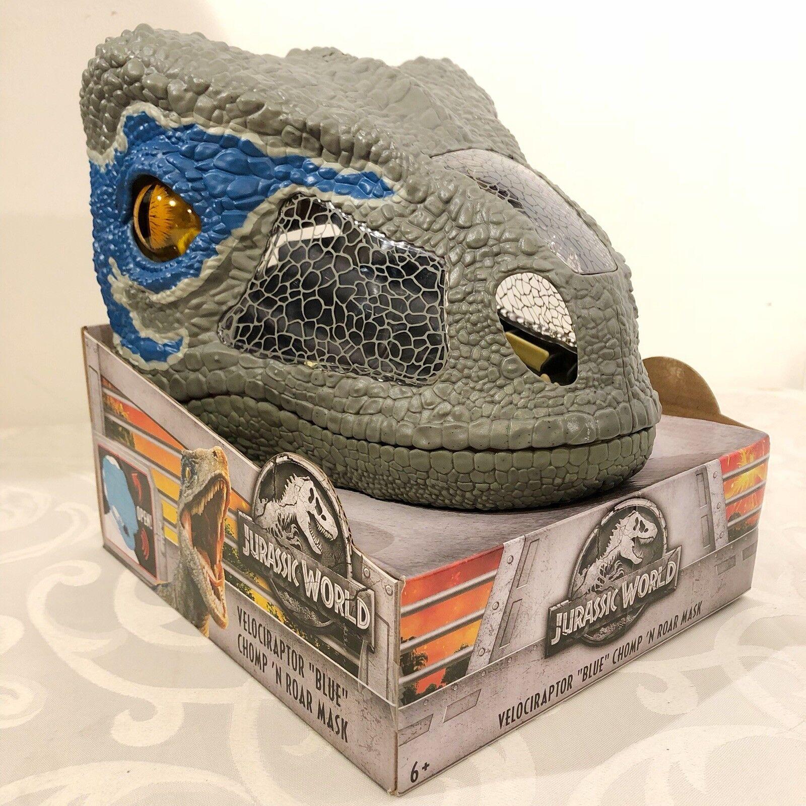 Jurassic welt gefallenen königreich velociraptor blaue biss n brüller maske neue