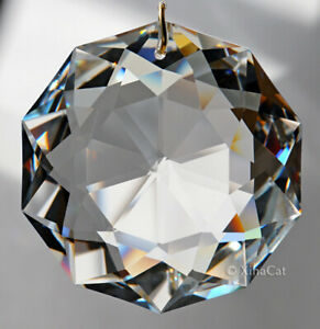 Huge-8950-0051-50mm-SWAROVSKI-Dahlia-Austrian-Crystal-Clear-Prism-SunCatcher-2-034
