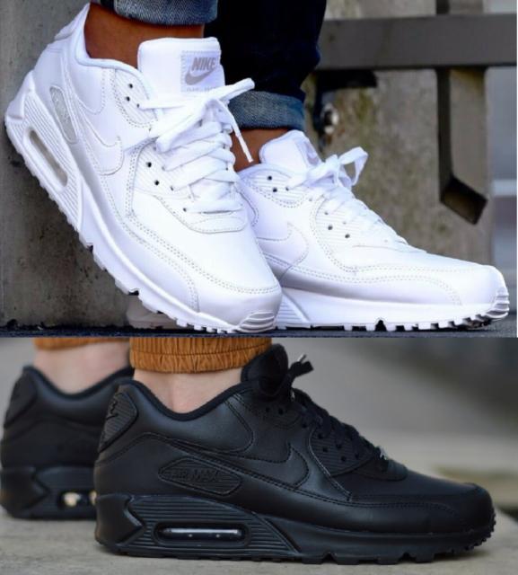 Details about Mens Nike Air Max 90 Essential Trainers Shoes Blue White AJ1285 406 UK 8.5 EU 43