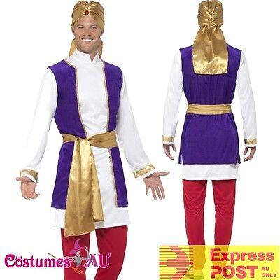 CA787 Arabian Sultan Shiek Prince Aladdin Arab Night Storybook Costume Outfit