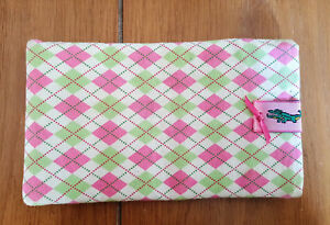 600a6f48fdd9 Image is loading LACOSTE-Argyle-Green-amp-Pink-Soft-Snap-Close-