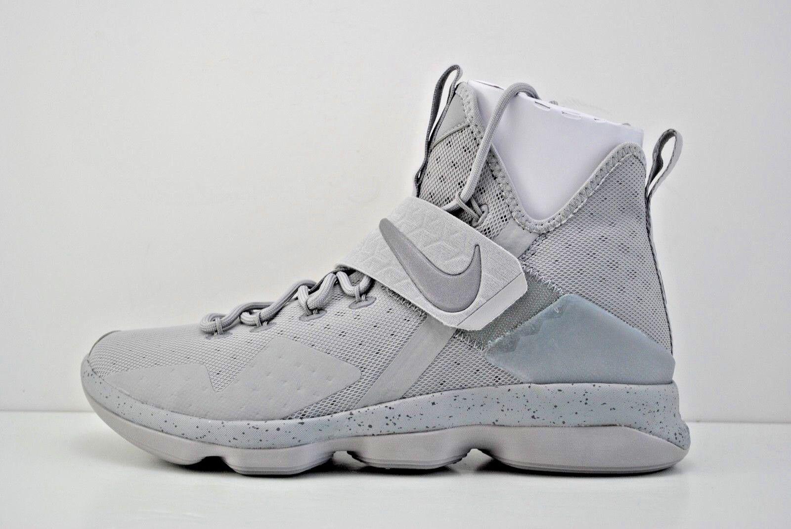 Mens Nike Lebron Size XIV 14 Basketball Shoes Size Lebron 10 Grey Reflect Silver 852405 007 d7b034