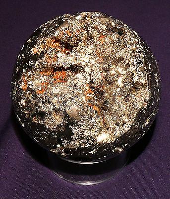 Nett Pyrit-kugel Goldfarbig Aus Peru, D=72mm 813,3g Eine GroßE Auswahl An Farben Und Designs