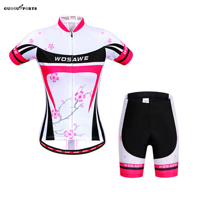 Cycling Jersey Bicycle Bike Cycle Short Sleeve Jersey Jacket Comfortable Breathable Shirts Tops 4D Cushion Padded Shorts Tights Pants Sportswear Suit Set Breathable Quick Dry