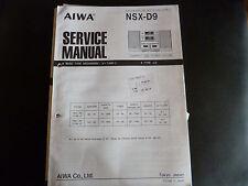 Original Service Manual  AIWA   NSX-D9