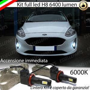 KIT-FULL-LED-H8-FORD-FIESTA-MK7-LAMPADE-FENDINEBBIA-CANBUS-6400-LUMEN-6000K