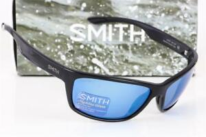 e852497a563 Image is loading NEW-SMITH-REDMOND-POLARIZED-SUNGLASSES-Black-Blue-Mirror-