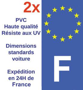 Sticker-Autocollant-F-plaque-d-039-immatriculation-Adhesif-HQ-Departement-France-X2