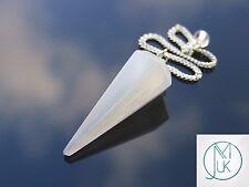 Selenite Gemstone Point Pendulum Dowsing Crystal Dowser Chakra Healing